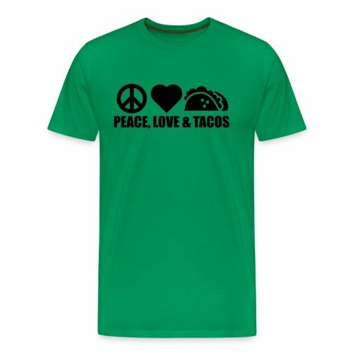 Peace, Love and Tacos - Men's Premium T-Shirt