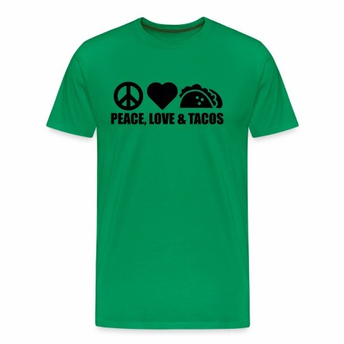 Peace, Love and Tacos - Men's Premium T-Shirt