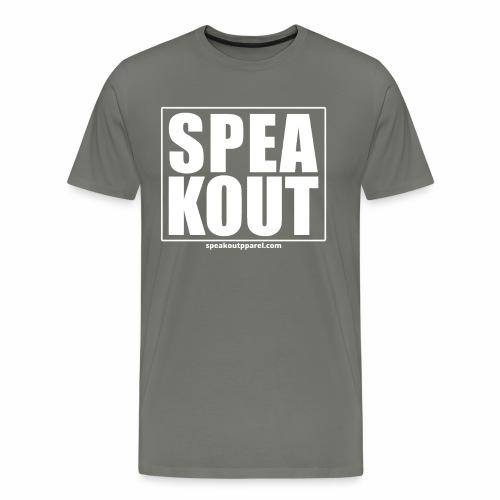 Speak Out! (white text) - Men's Premium T-Shirt