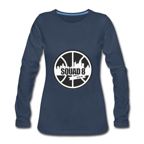 Women Squad 8 long sleeve navy - Women's Premium Long Sleeve T-Shirt