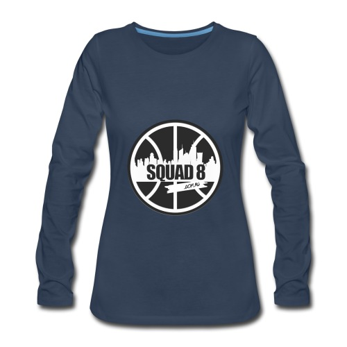 Women Squad 8 long sleeve navy - Women's Premium Long Sleeve T-Shirt
