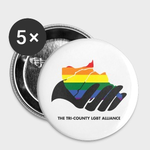 TriCounty LGBT Alliance Button 5-pack - Large Buttons