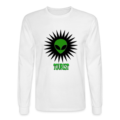 SCHWA (ALIEN HEAD) TOURIST TEE - Men's Long Sleeve T-Shirt