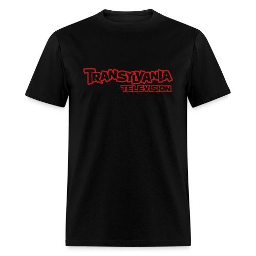 TVTV Red Glitter Logo - Men's T-Shirt