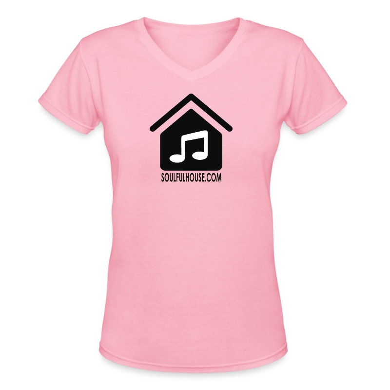 Soulful House Logo Black - Women's V-Neck T-Shirt