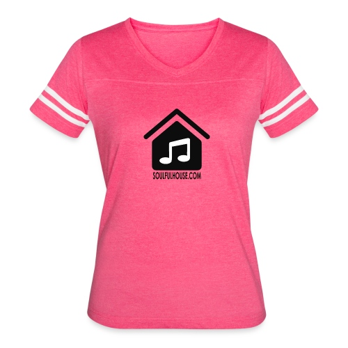 Soulful House Logo Black - Women's Vintage Sport T-Shirt