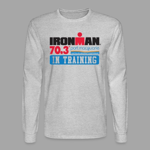 IRONMAN 70.3 Port Macquarie In Training Men's Long Sleeve T-shirt - Men's Long Sleeve T-Shirt