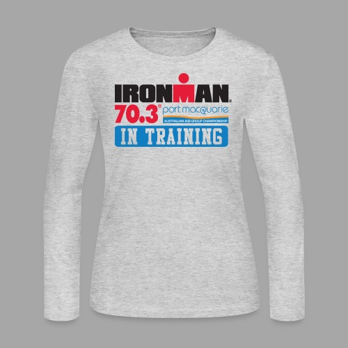 IRONMAN 70.3 Port Macquarie In Training Women's Long Sleeve T-shirt - Women's Long Sleeve Jersey T-Shirt