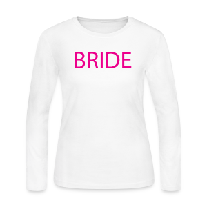 Bride Womens Long Sleeve Tee - Women's Long Sleeve Jersey T-Shirt