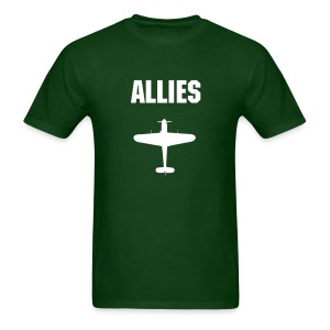 Allies Fighter Dark Tee (White Text) - Men's T-Shirt