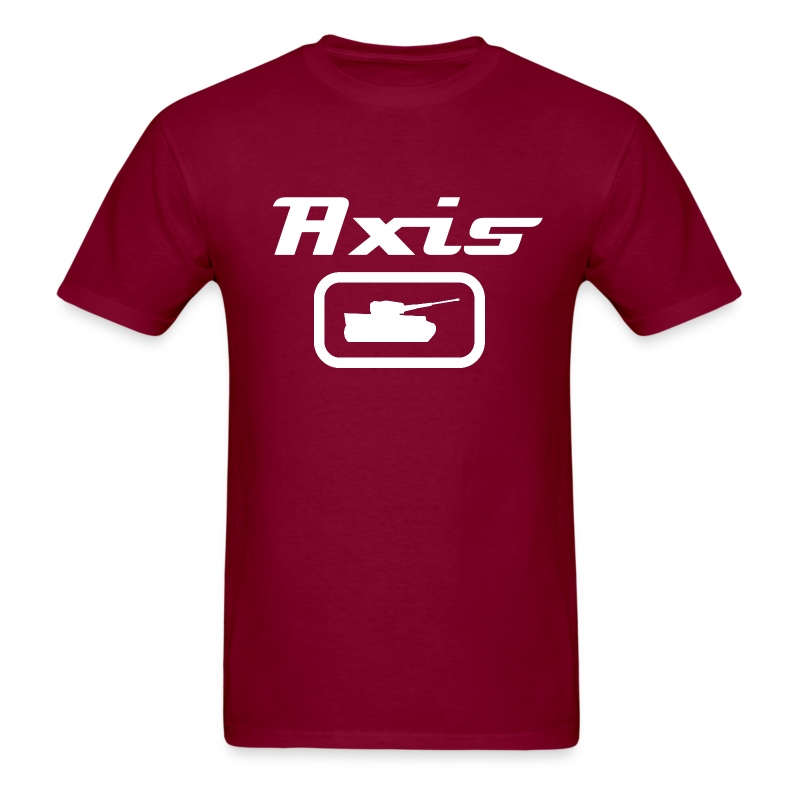Axis Tank Tee with White Stylized Text - Men's T-Shirt