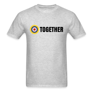 UK: Together Tee on Grey - Men's T-Shirt