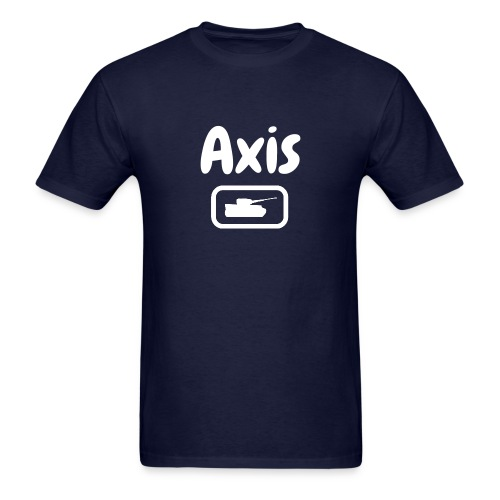 Axis Tank Tee with Stylized White Text - Men's T-Shirt