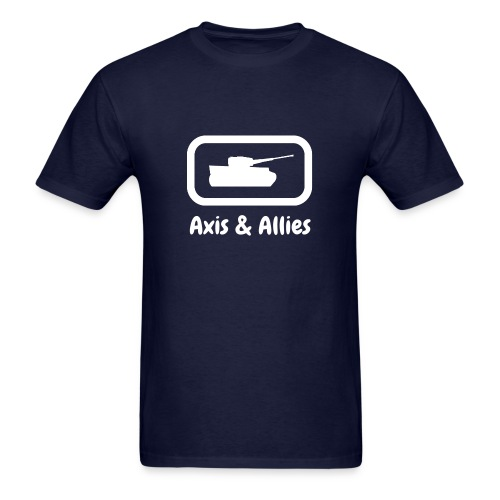 Axis & Allies Tank Tee with Stylized White Text - Men's T-Shirt