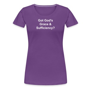 God's Grace & Sufficiency - Plus Size - Women's Premium T-Shirt