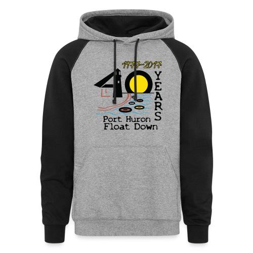 Port Huron Float Down 2017 - 40th Anniversary Hoodie - Colorblock Hoodie