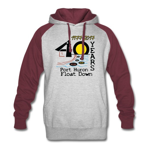 Port Huron Float Down 2017 - 40th Anniversary Hoodie - Colorblock Hoodie