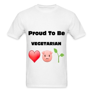 Proud to Be VEGETARIAN - Men's T-Shirt