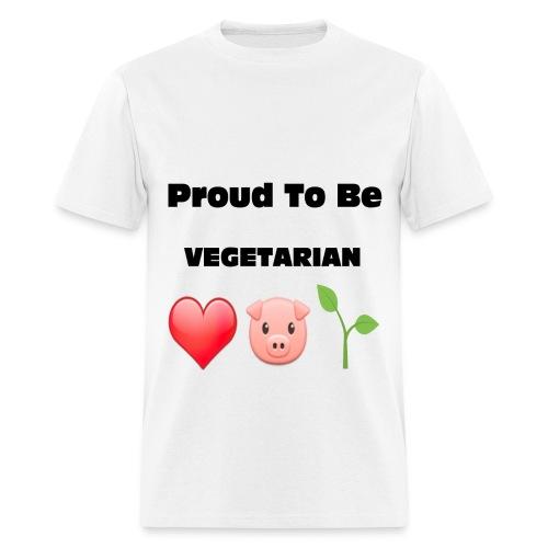 Proud to Be VEGETARIAN - Men's T-Shirt