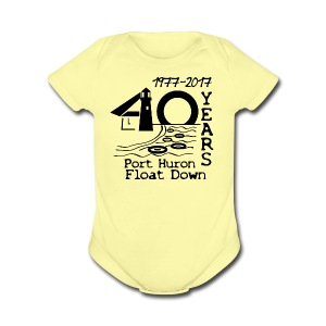Port Huron Float Down 2017 - 40th Anniversary Baby  - Short Sleeve Baby Bodysuit
