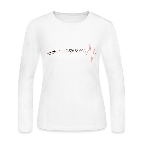 Jazzy Women's Longsleeve Tee w/ black text - Women's Long Sleeve Jersey T-Shirt