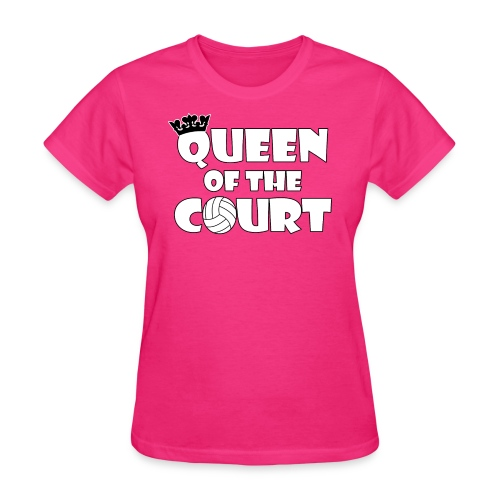 Queen of the Court Cute Volleyball Shirt - Women's T-Shirt