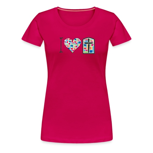 Women's T-Shirt I Love FPGH Design - Women's Premium T-Shirt