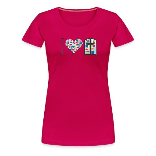 Women's T-Shirt I Love FPGH Design - Women's Premium T-Shirt