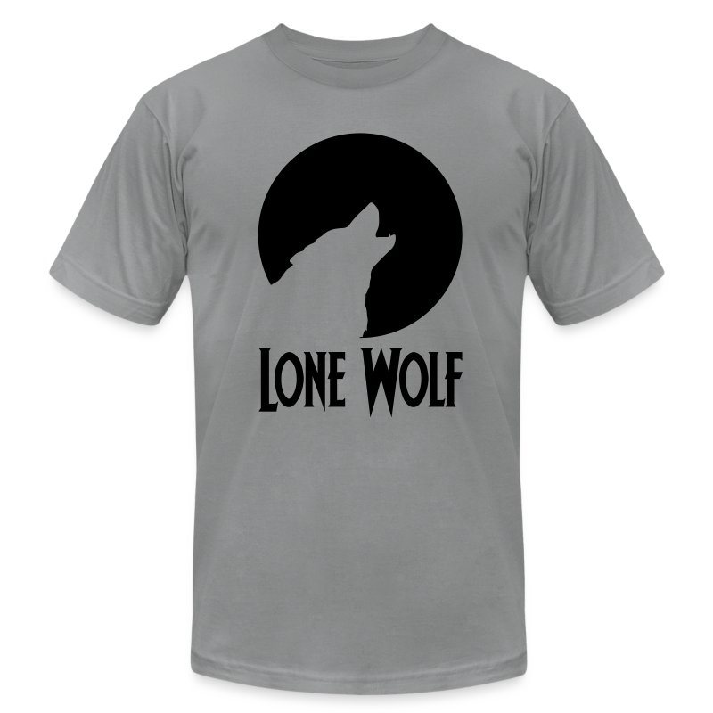 Lone Wolf  - Men's T-Shirt by American Apparel