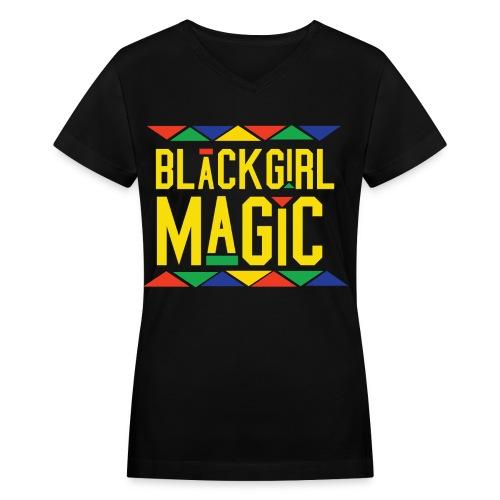 Black Girl Magic Tee Martin Inspired - Women's V-Neck T-Shirt