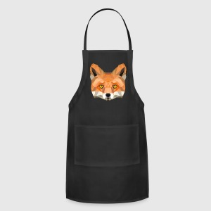 fox head low poly animal illustration art wilderne Aprons - Adjustable Apron
