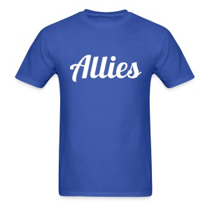 Allies Tee with Stylized White Text - Men's T-Shirt