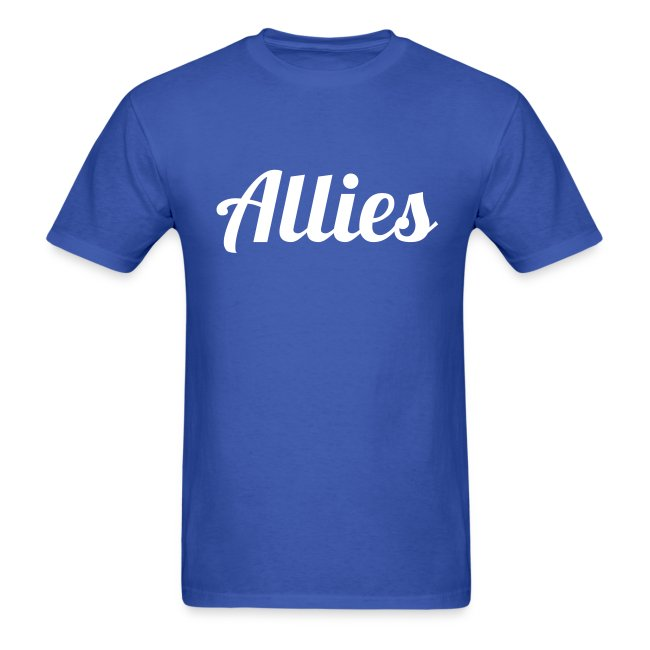 Allies Tee with Stylized White Text