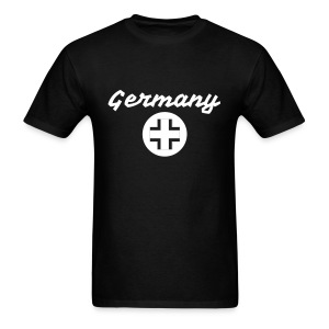 Germany Tee with Stylized White Text and Logo - Men's T-Shirt