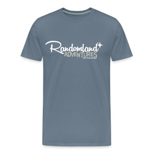 Randomland Adventures Logo (White) Premium & Plus Sizes - Men's Premium T-Shirt