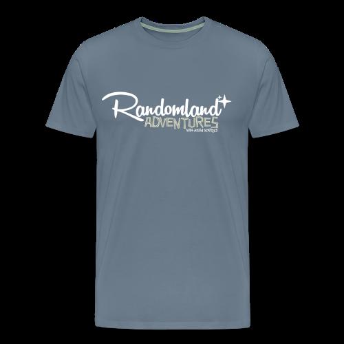Randomland Adventures Logo (White) Premium & Plus Sizes - Men's Premium T-Shirt