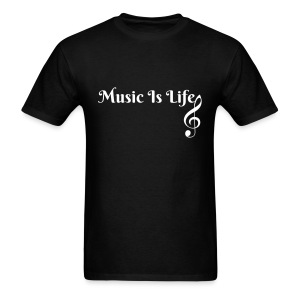 Music is Life - Men's T-Shirt  - Men's T-Shirt