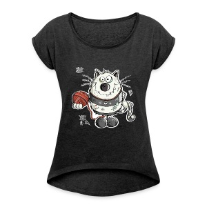 Bad Cat T-Shirts - Women´s Rolled Sleeve Boxy T-Shirt