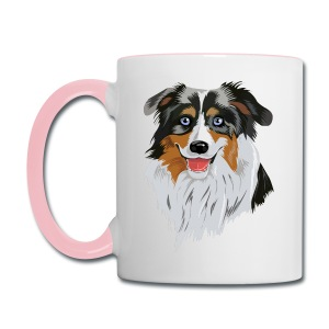 BackYards Coffee cup With logo and MAS Head - Contrast Coffee Mug