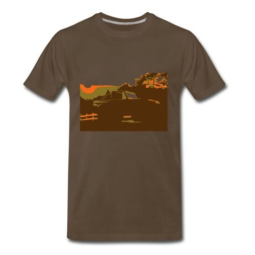 Bronco Sunset - Men's Premium T-Shirt