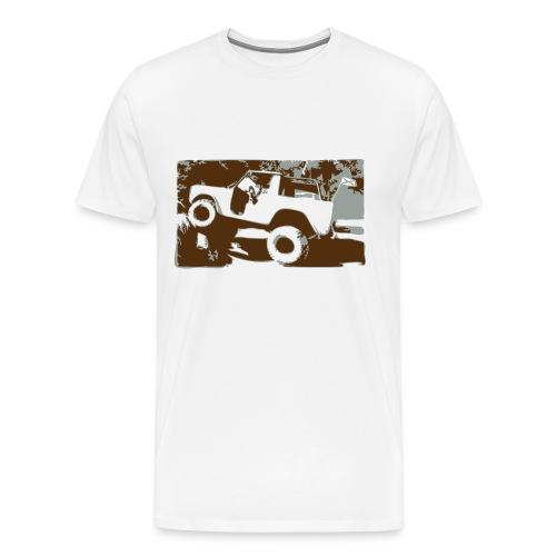 Bronco on the Rocks - Men's Premium T-Shirt