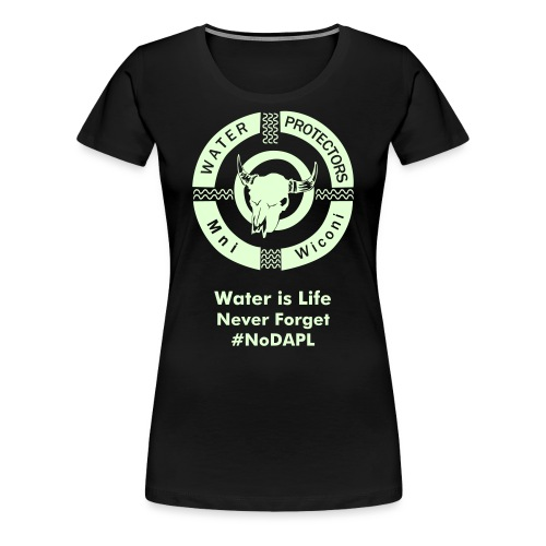 Water Protectors Mni Wiconi Never Forget - Women's Premium T-Shirt