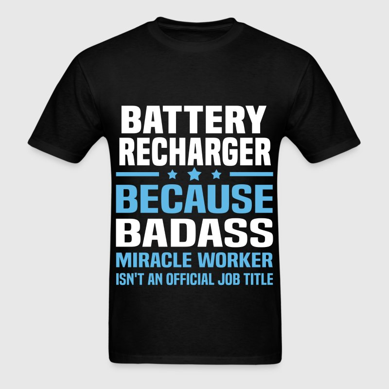 Battery Recharger Tshirt - Men's T-Shirt