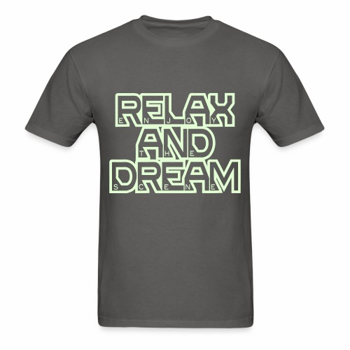 Enjoy the Dream Men's T-shirt (glow-in-the-dark) - Men's T-Shirt