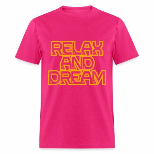 Enjoy the Dream Men's T-shirt (neon orange) - Men's T-Shirt