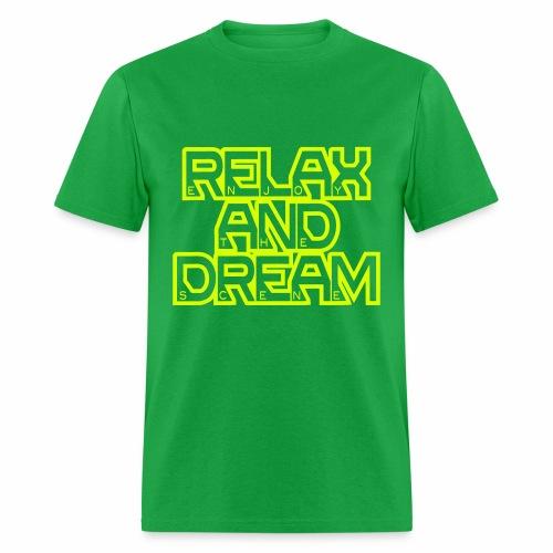 Enjoy the Dream Men's T-shirt (neon yellow) - Men's T-Shirt