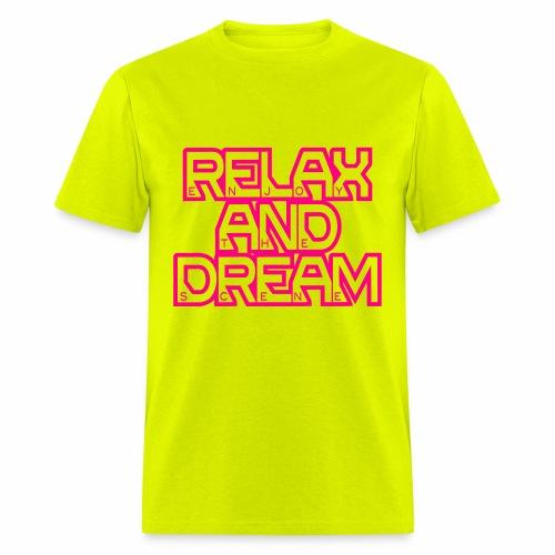 Enjoy the Dream Men's T-shirt (neon pink) - Men's T-Shirt