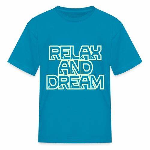 Enjoy the Dream Kids' T-shirt (glow-in-the-dark) - Kids' T-Shirt