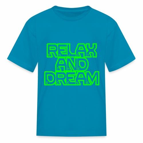 Enjoy the Dream Kids' T-shirt (neon green) - Kids' T-Shirt