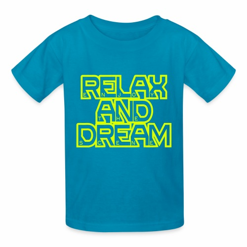Enjoy the Dream Kids' T-shirt (neon yellow) - Kids' T-Shirt